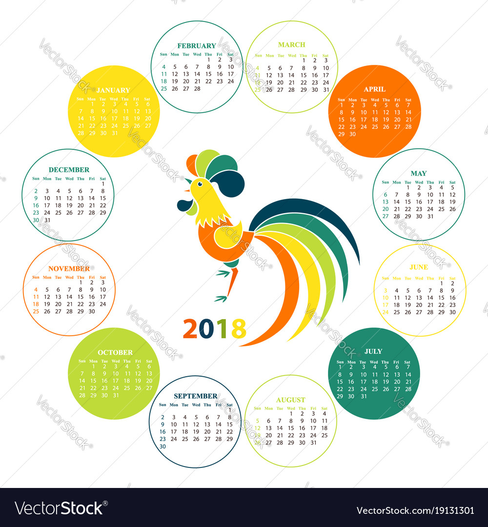 Wall Calendar For 2018 From Sunday To Saturday with Sunday To Saturday Calendar
