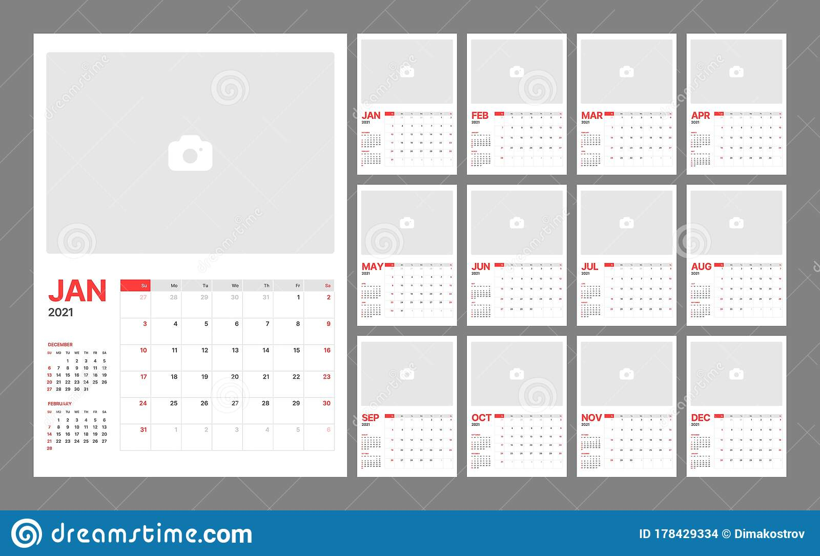 Wall Calendar Template For 2021 Year. Planner Diary In A pertaining to Diary 2021: Weekly And Monthly Year