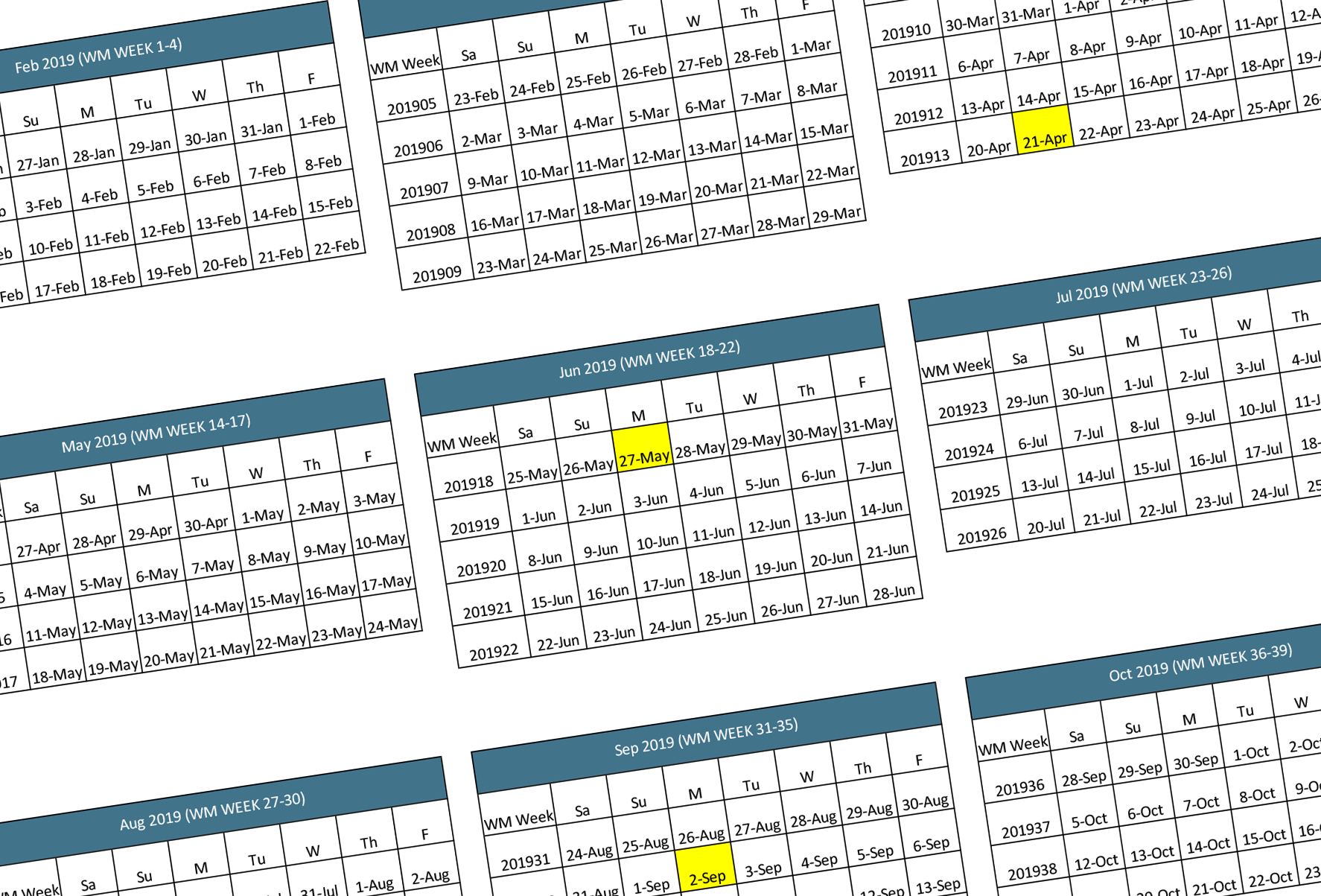 Walmart 2019-2020 Fiscal Calendar | Walmart Supplier News in Calendario Fiscal 4-4-5