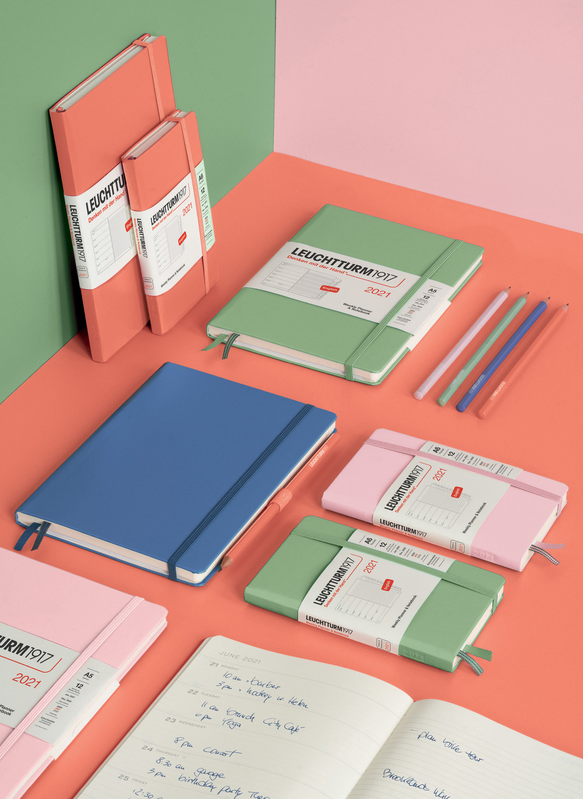 Weekly Planner & Notebook Pocket (A6) 2021, With Booklet, Bellini |  Leuchtturm1917 | Notebooks | Bullet Journals | Academy Pads throughout 2021-2021 2 Year Pocket Planner: 2 Year