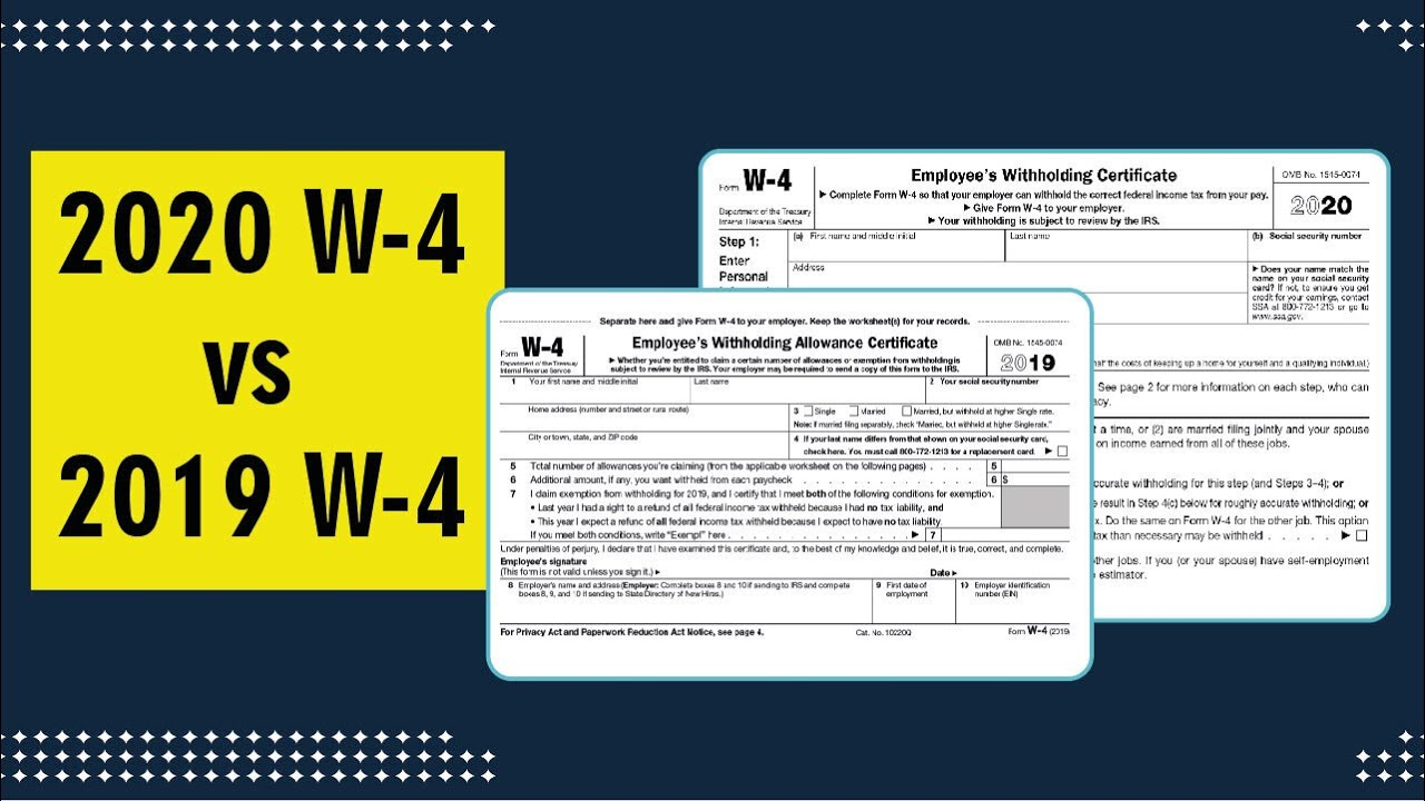 What Is The Difference Between 2021 Form W-4 & 2020 W-4 with W4 Form 2021
