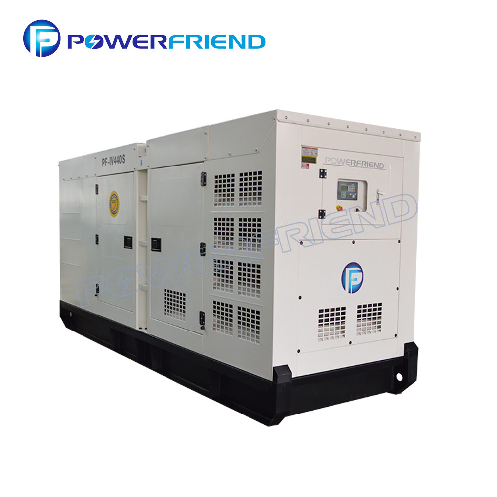 White 3 Phase Iveco Diesel Generator Prime Power 300Kw With Italy Engine inside Primepower Sri Lanka