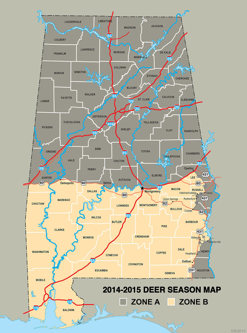Whitetail Rutting Activity In Alabama Varies Widely | Online with regard to Deer Rut Map