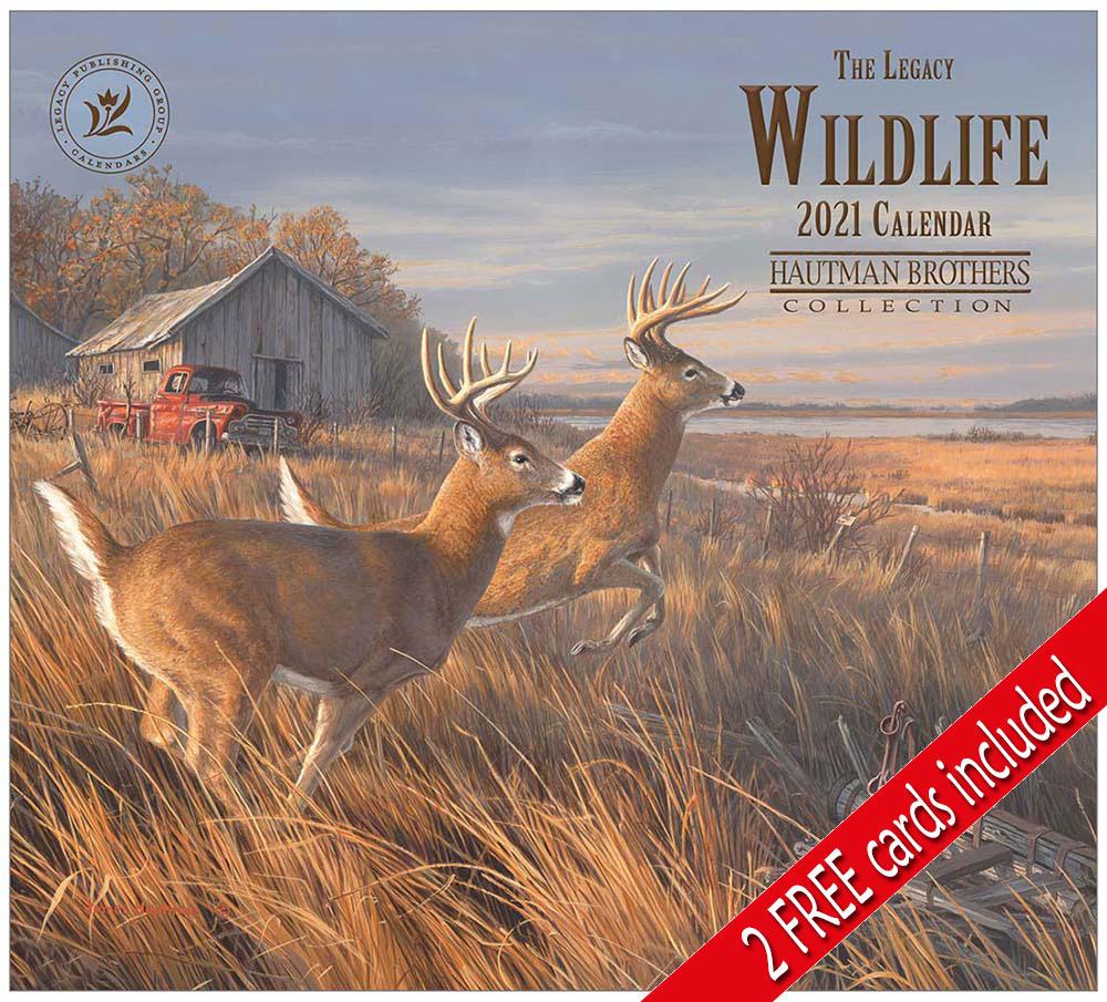 Wildlife 2021 Wall Calendar within Deer Hunting Calendar 2021
