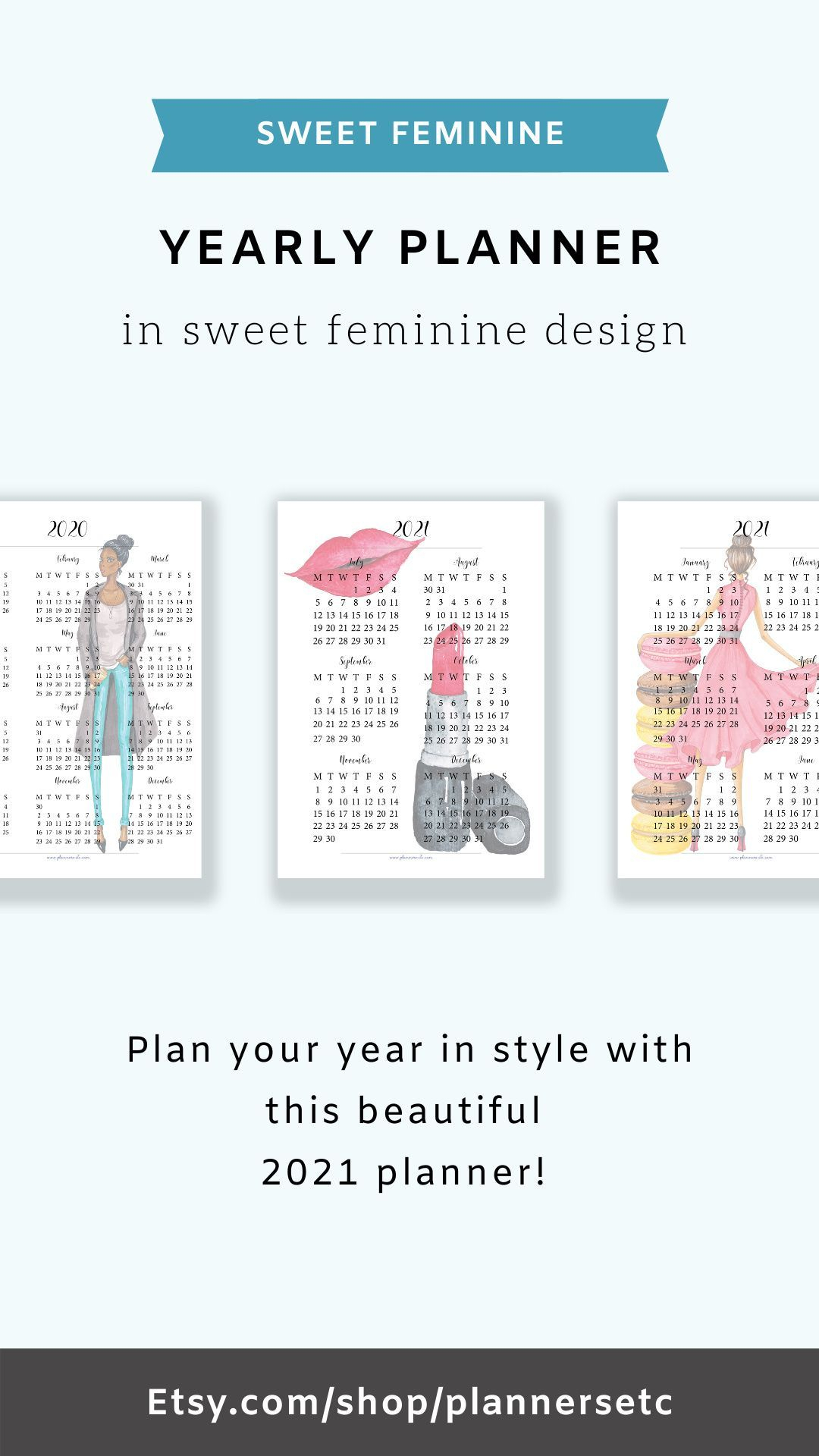 Yearly Calendar 2021 Printable Filofax Personal 2021 2021 in 2021-2021 2 Year Pocket Planner: 2 Year