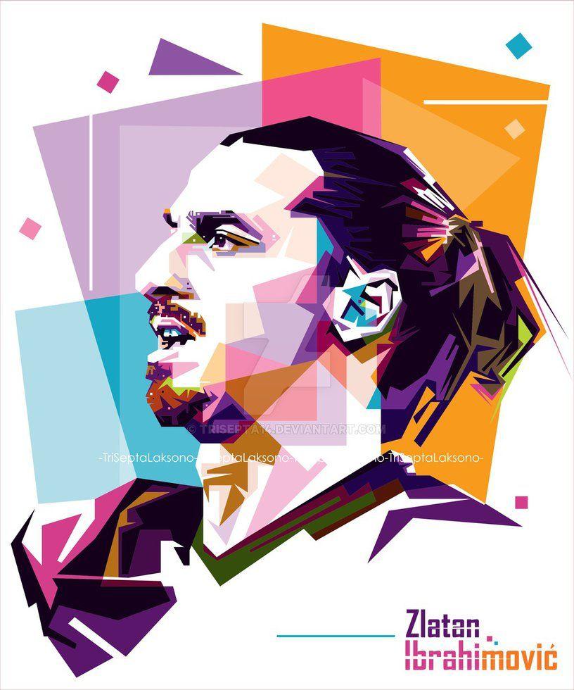 Zlatan Ibrahimovic Wpap | Soccer Art, Zlatan Ibrahimović with regard to Wpa Wpart Co