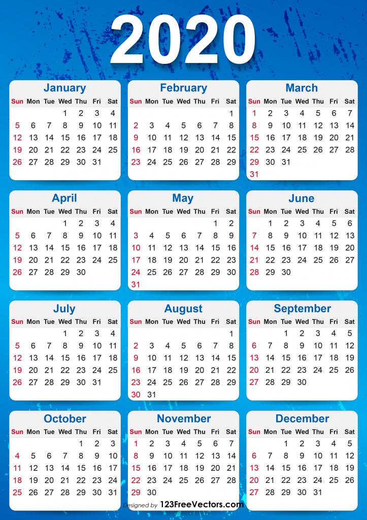 10 Year Calendar From 2020 - Calendar Template 2021 throughout Waterproof Calendars Printable 2021