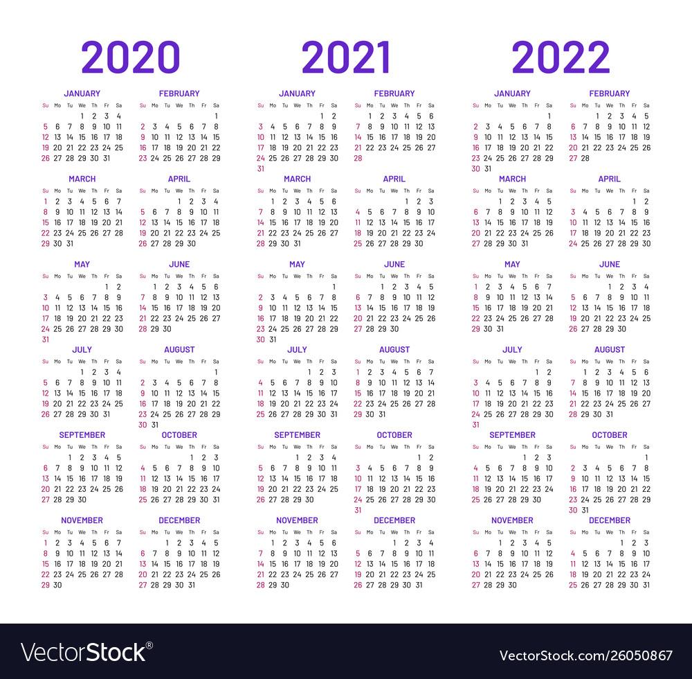 2 Year Pocket Calendar 2020 2021 | Calendar Template throughout 2021-2021: 2 Year Calendar Pocket