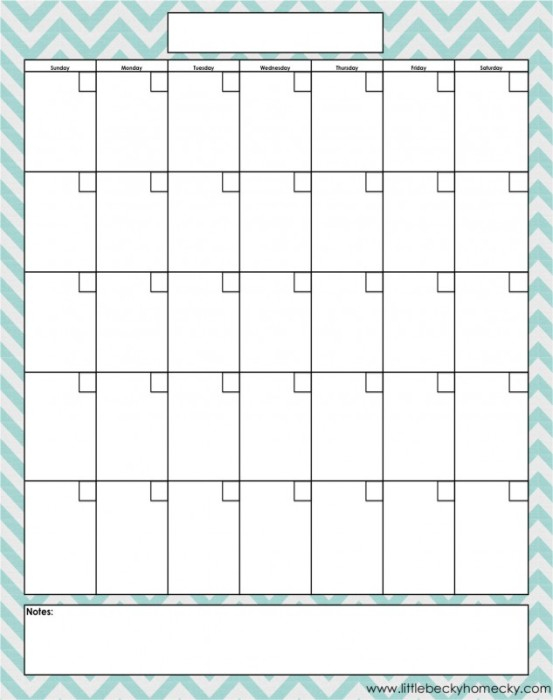 20 Free Printable Blog Planners | Fab N' Free intended for Free Fill In Calendar Template