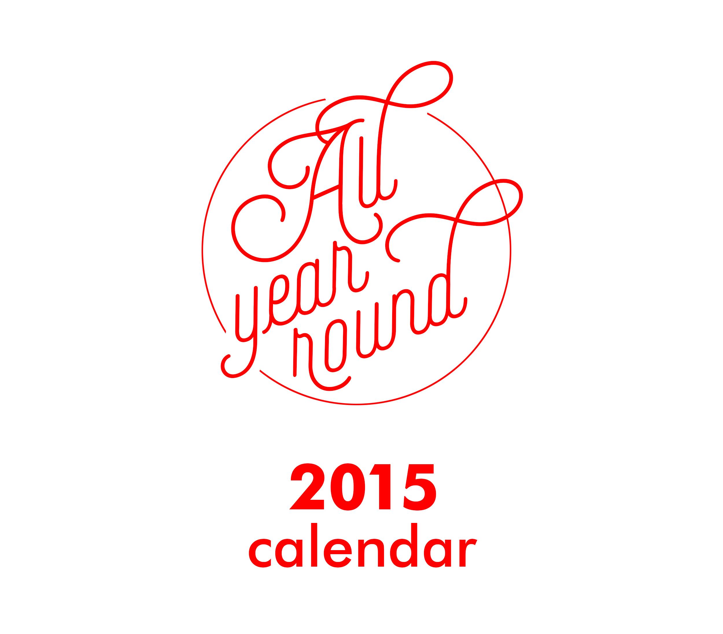 2015 All Year Round Calendar On Behance for All Year Calendar