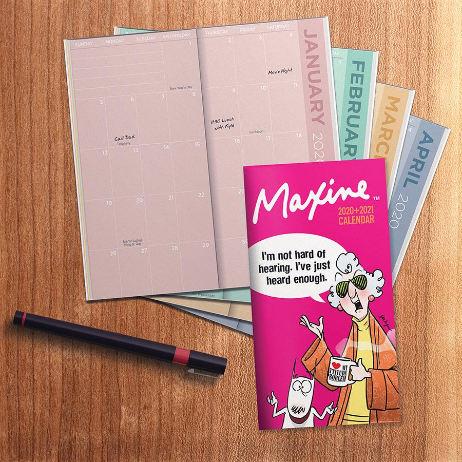 2020-2021 Maxine 2-Year Small Monthly Pocket Planner intended for Monthly Planner 2021 With Pockets