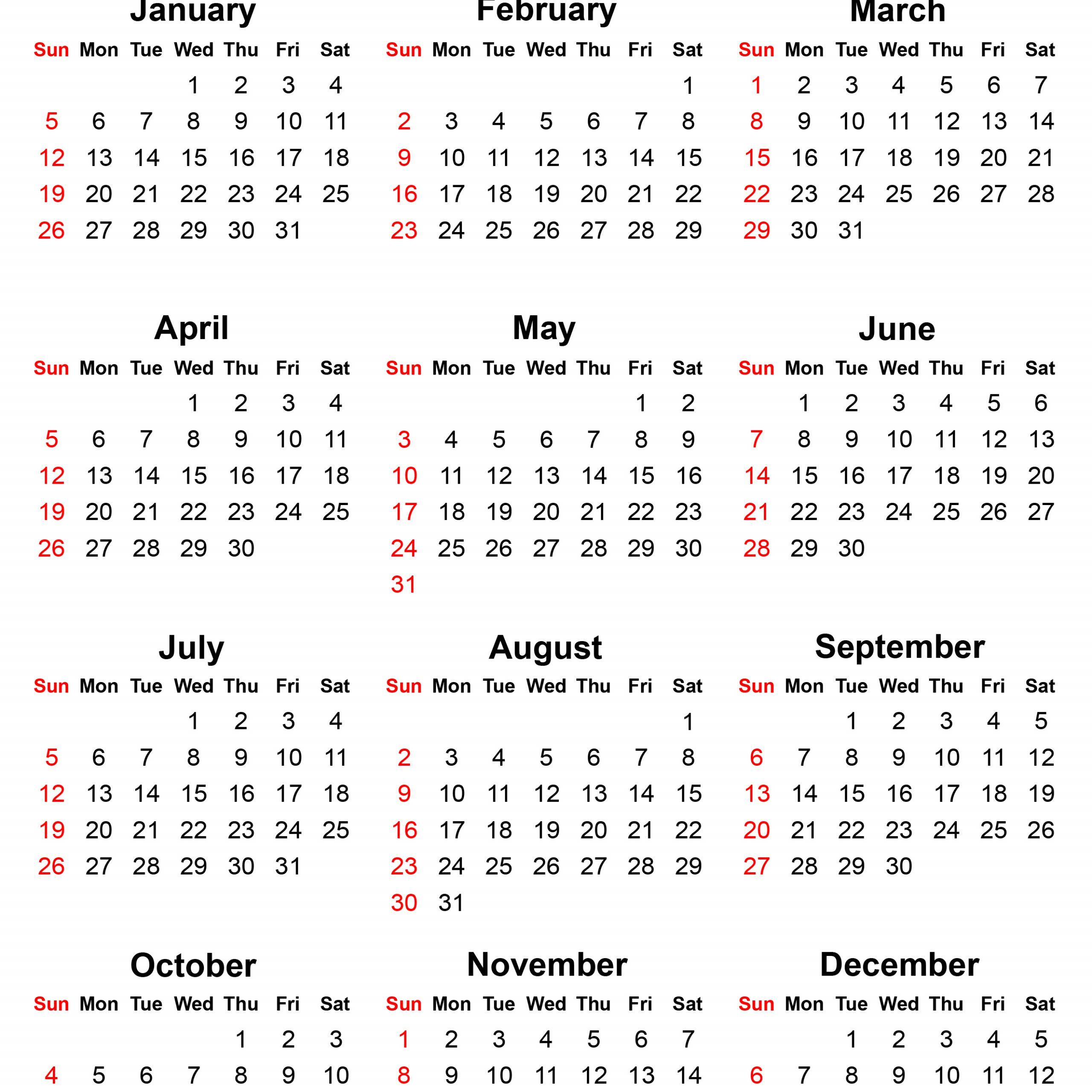 2020 Printable Calendar Sunday To Saturday | Free for Sunday Saturday Calendar Template