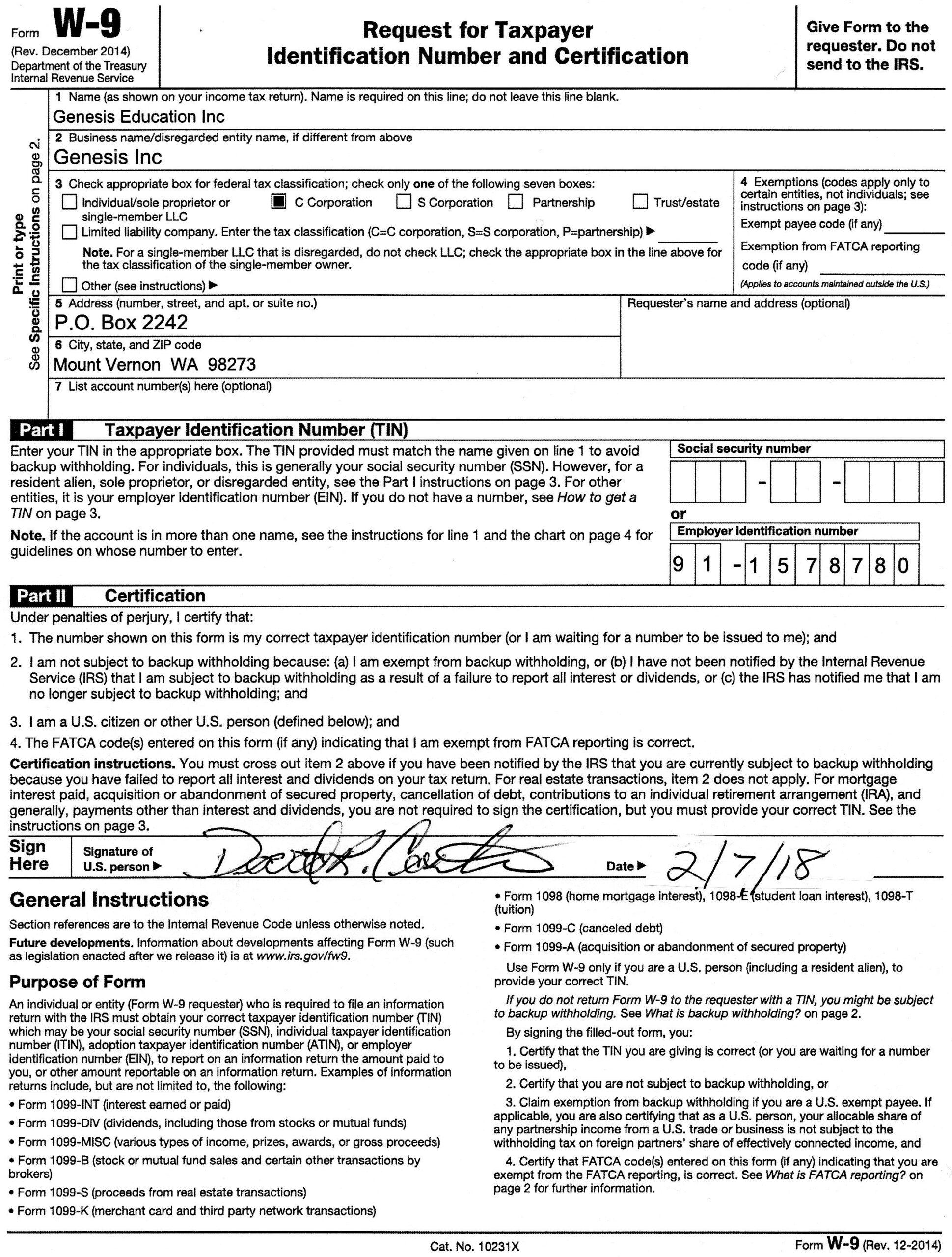 2020 W-9 Form Printable Pdf   Example Calendar Printable with Print Free W9 Form