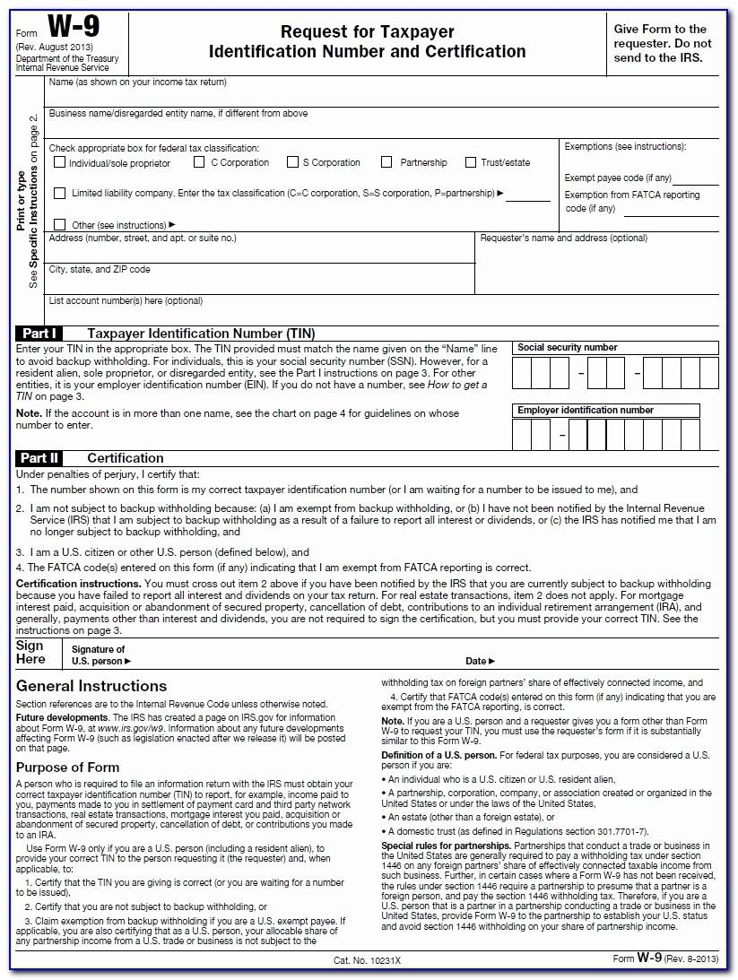 2020 W9 Printable Blank | Calendar Template Printable regarding Blank W-9 2021