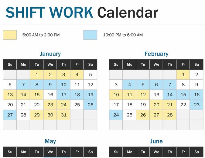 2021 12 Hour Rotating Shift Calendar - Free Rotation pertaining to Printable Yearly Shift Rota Calendars 2021 Free