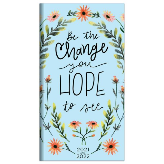 2021-2022 Be The Change 2-Year Small Monthly Planner | Ebay inside 2021-2021 Planner: 2-Year Planner
