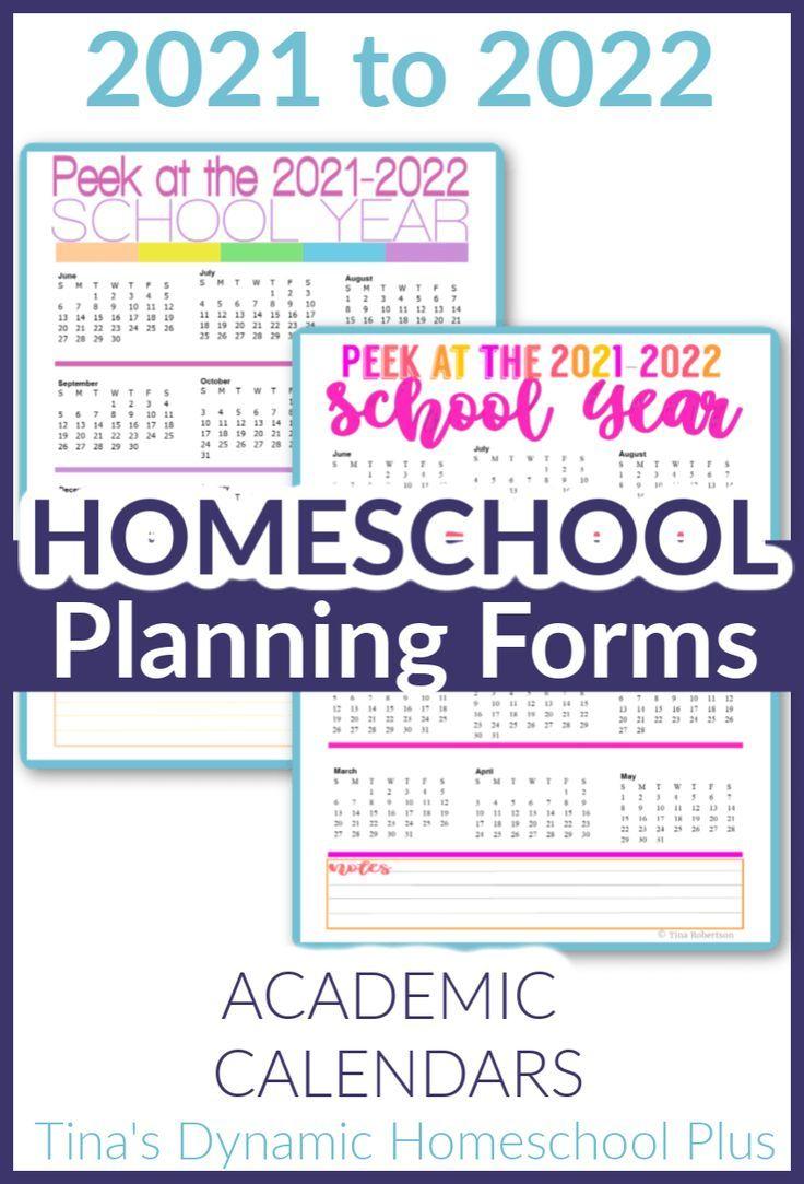 2021 2022 Homeschool Calendar | Calendar 2021 in 2021-2021 Two Year Planner: Neat 2-Year
