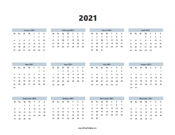 2021 Calendar | Allfreeprintable in Printable Calendars 2021 Sunday To Saturday