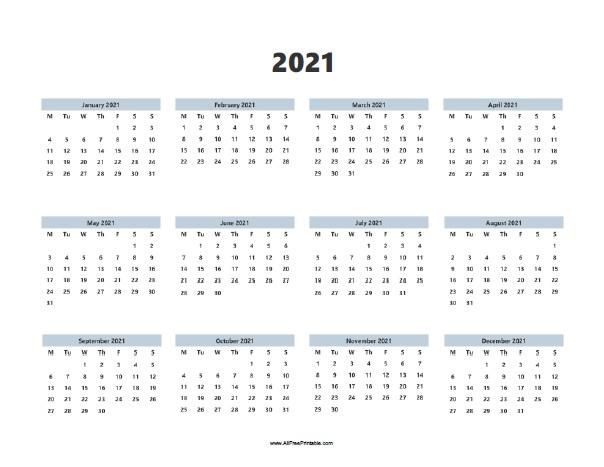 2021 Calendar | Allfreeprintable within Free Fillable Calendar 2021