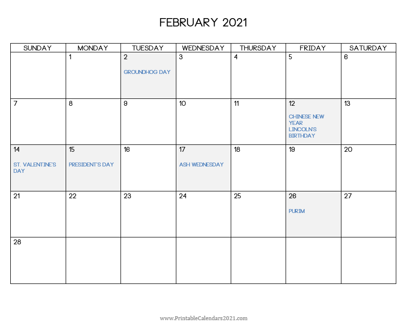 2021 Print Free Calendars Without Downloading | Calendar within Fill In Calendar 2021