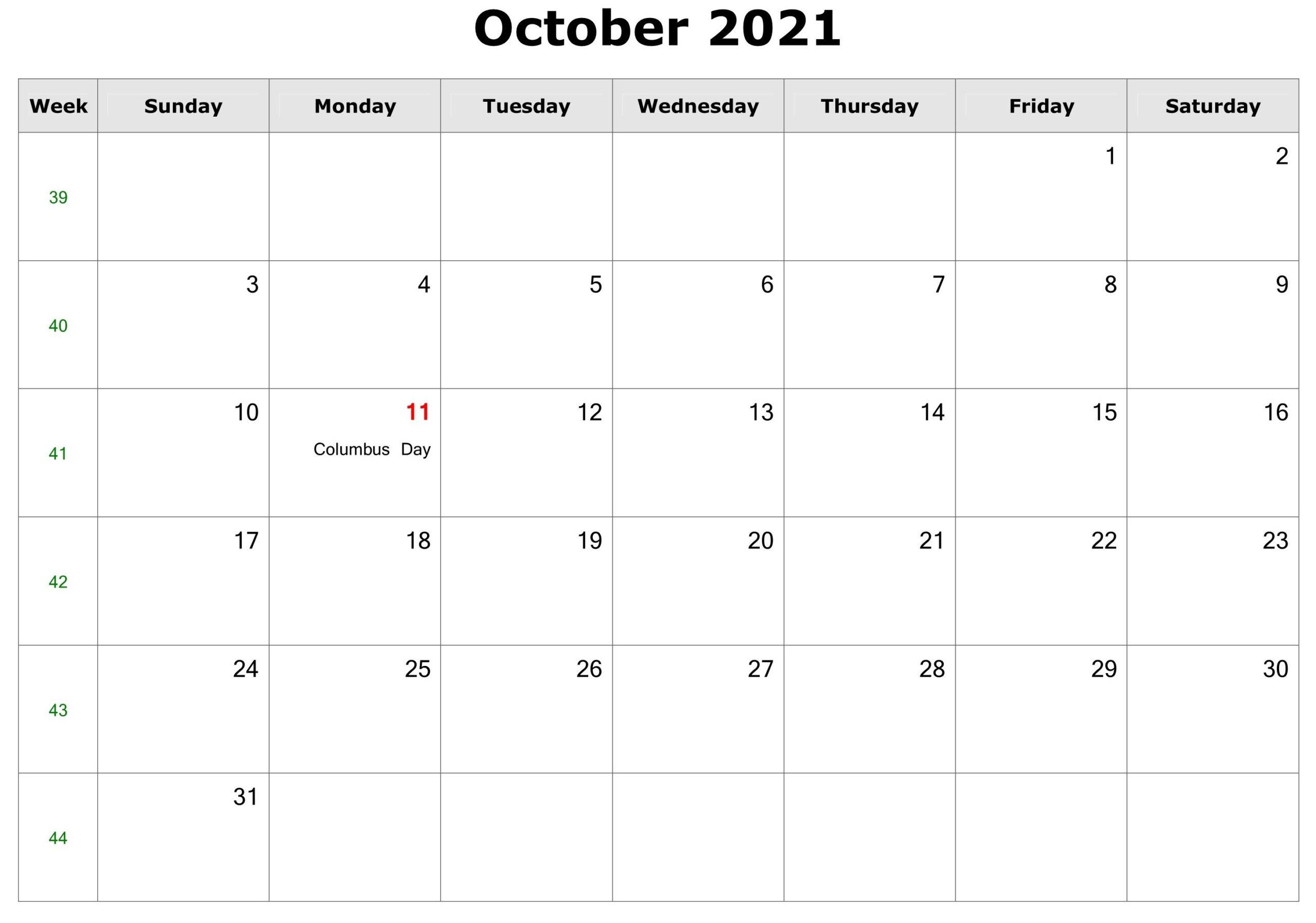 2021 Printable Calendar From October Thru December in August 2021 Fill In Calendar