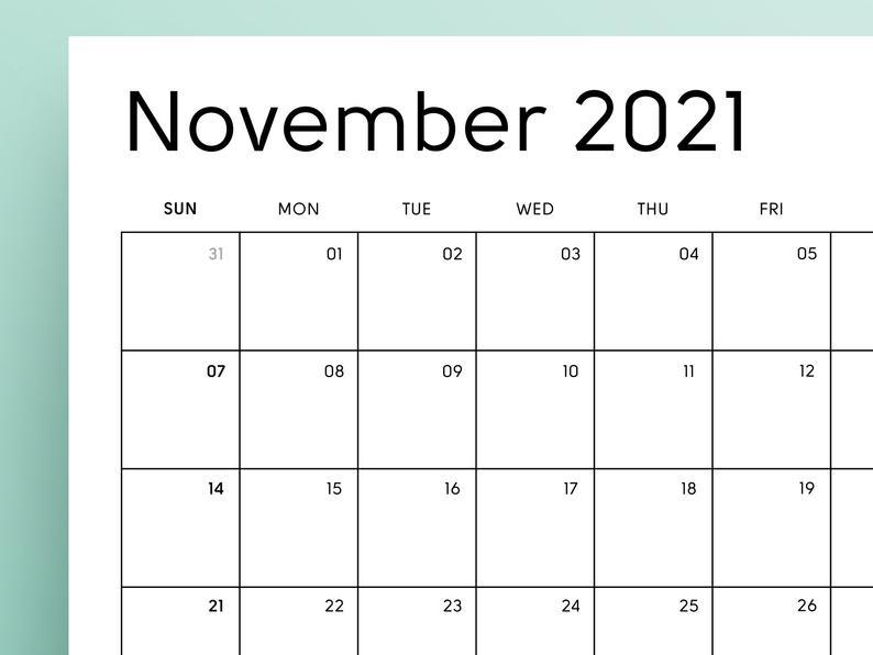 2021 Printable Calendar Sunday & Monday Start 2021 Monthly for Calendar 2021 Monday Through Sunday