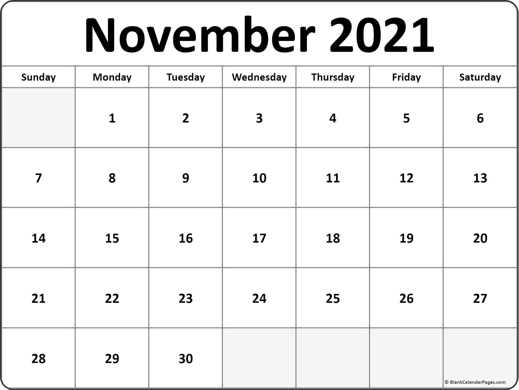 2021 Printable Monthly Calendar | Ten Free Printable within Blank 2021 Calendar Printable Free