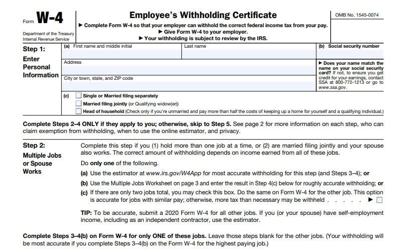 2021 W 4P Form Printable | Printable Form 2021 for Blank W-9 2021