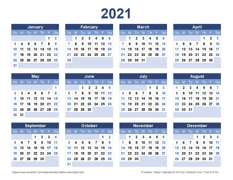 2021 Year Calendar Printable | Calvert Giving with 2021-2021 Two Year Planner: Neat 2-Year