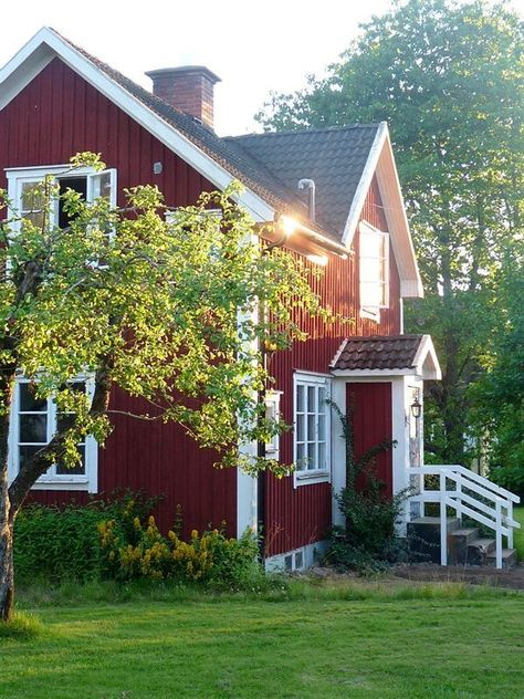 370 Red Houses Ideas In 2021   Red Houses, House Exterior for The Cozy Red Cottage 2021