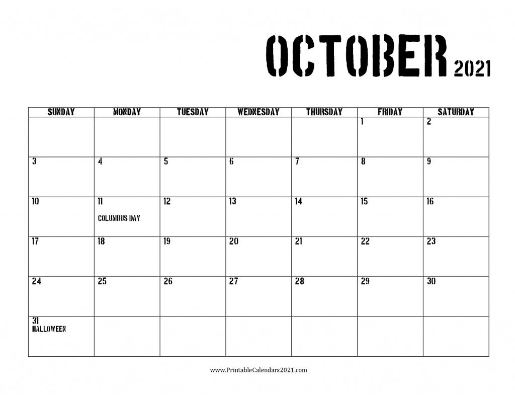 42+ October 2021 Calendar Printable, October 2021 Calendar intended for Calendar 2021 October Fill In