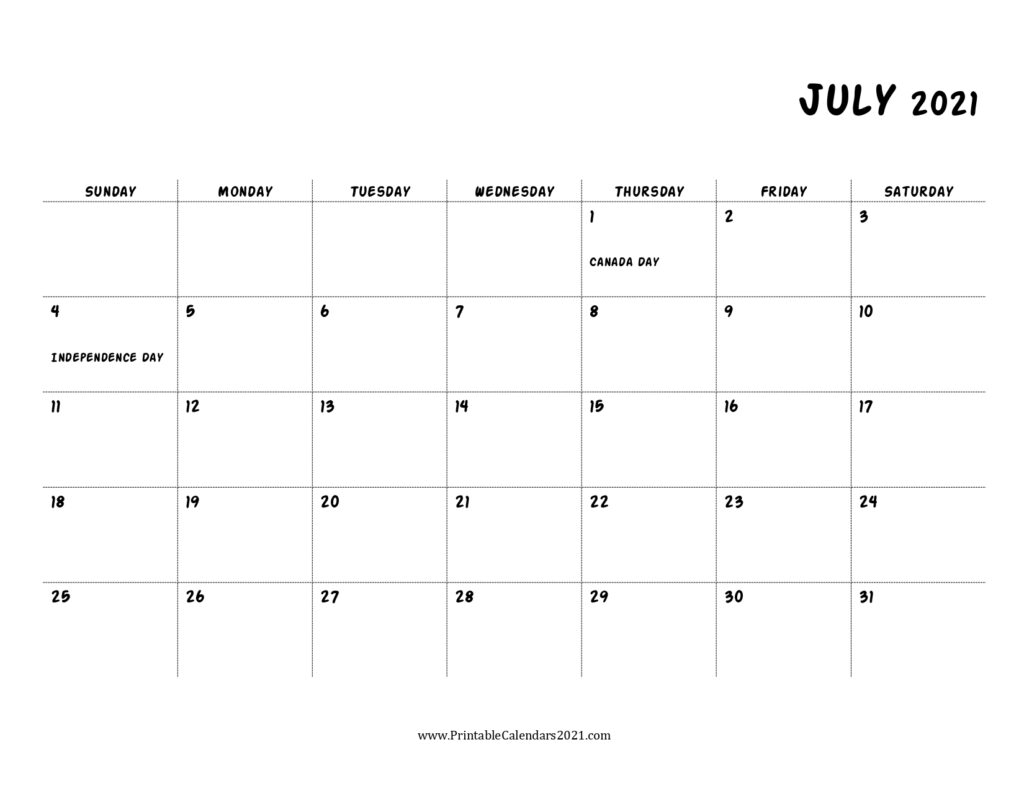 45+ July 2021 Calendar Printable, July 2021 Calendar Pdf with regard to Print Free July 2021 Calendar Without Downloading