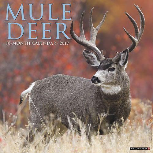 A Deer Hunter Can Plan His Next Hunt In This Full-Color 2017 Mule Deer Calendar. This Large for Deer Hunting Calendar