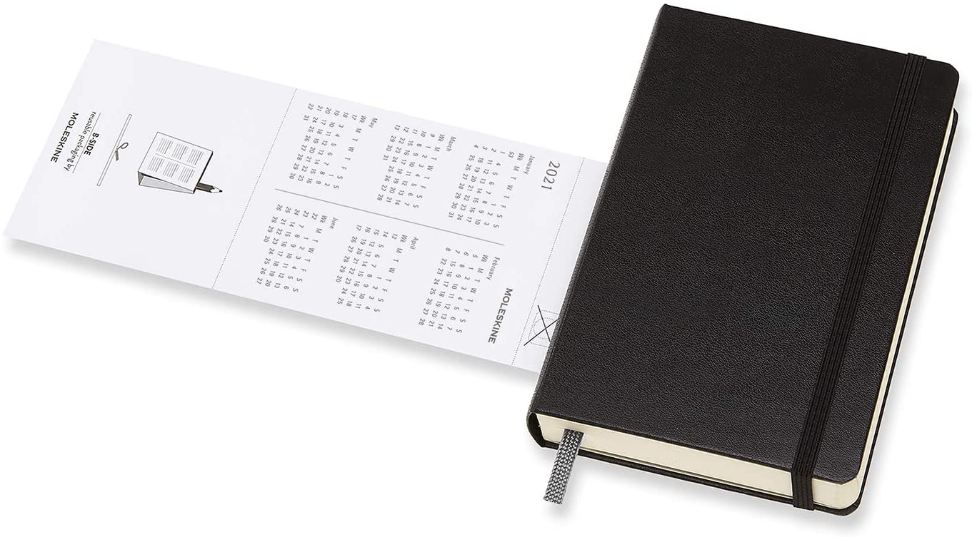 Agenda 2021 - Moleskine 12-Month Daily Notebook Planner intended for Monthly Planner 2021 With Pockets