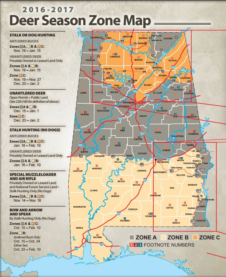 Alabama Hunting Laws And Regulations | Survival Life inside Alabama Rut Map