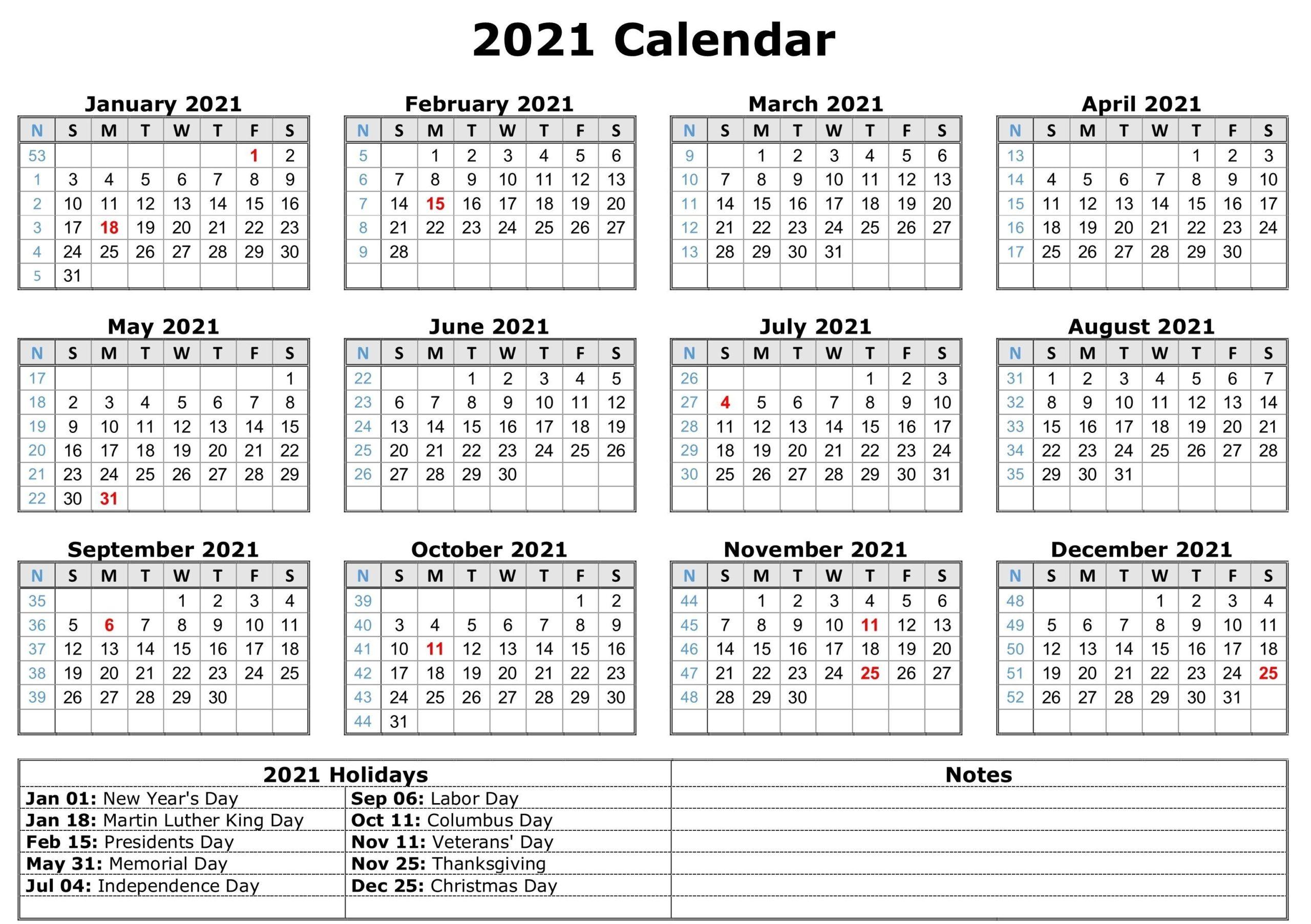 Blank 2021 Calendar Printable | Calendar 2021 intended for Blank 2021 Calendar Printable Free