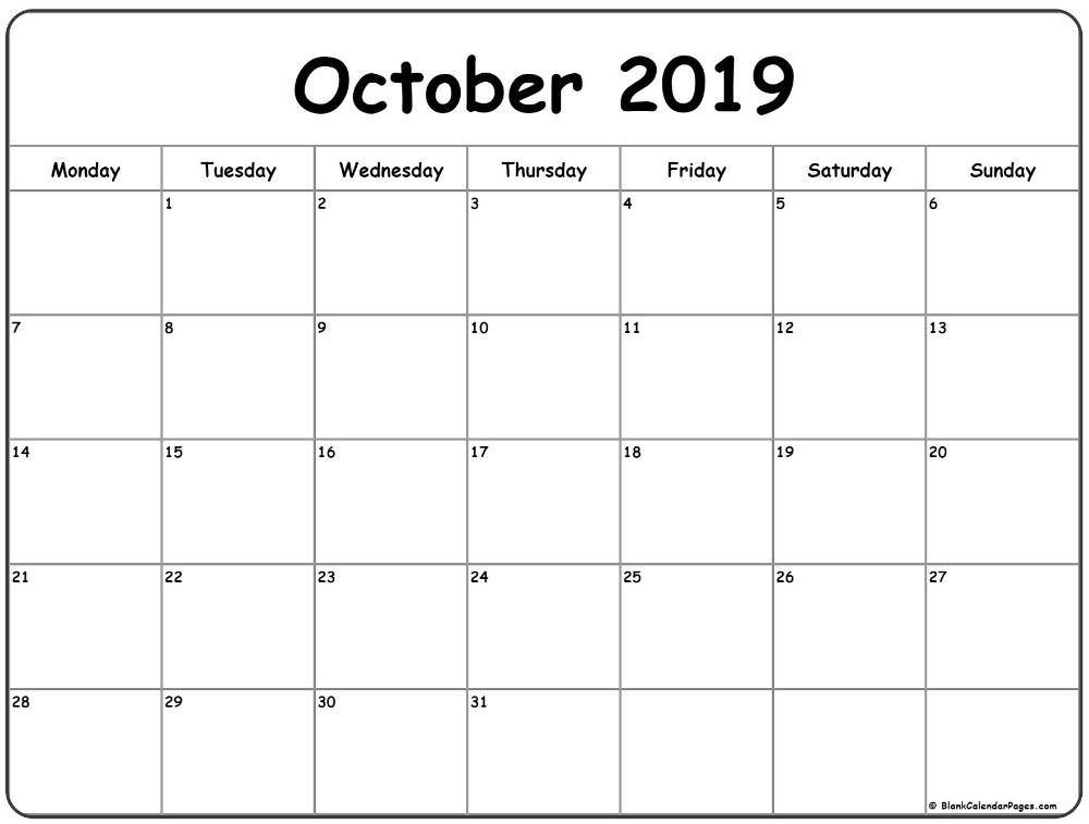 Blank Monthly Calendar Sunday Thru Saturday | Calendar throughout Sunday Through Monday Blank Calendar