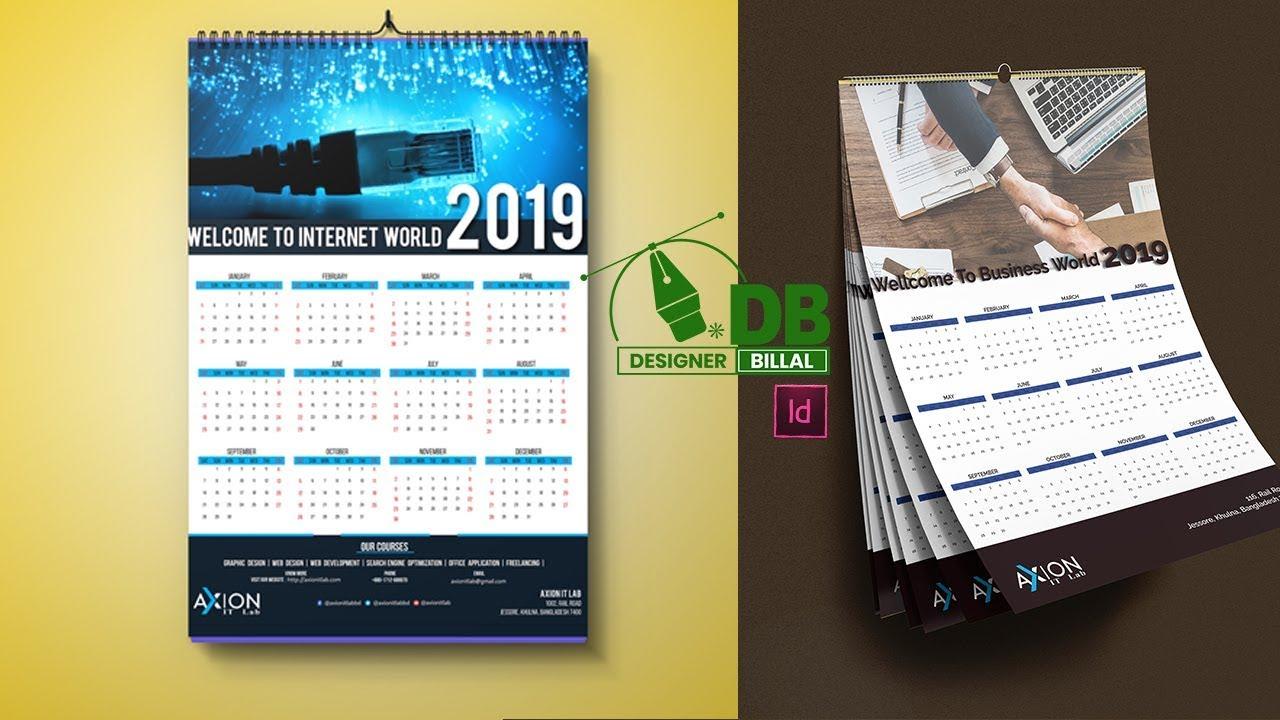 Calendar Design In Adobe Indesign Cc 2019 - Youtube in Calendar Wizard Indesign