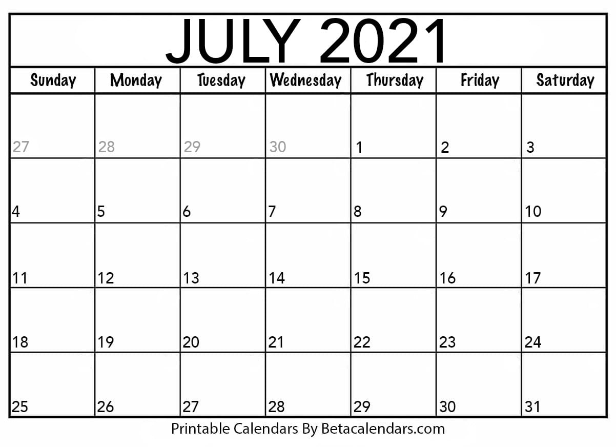 Calendar July 2021   Calendar Printables Free Templates with Print Free July 2021 Calendar Without Downloading