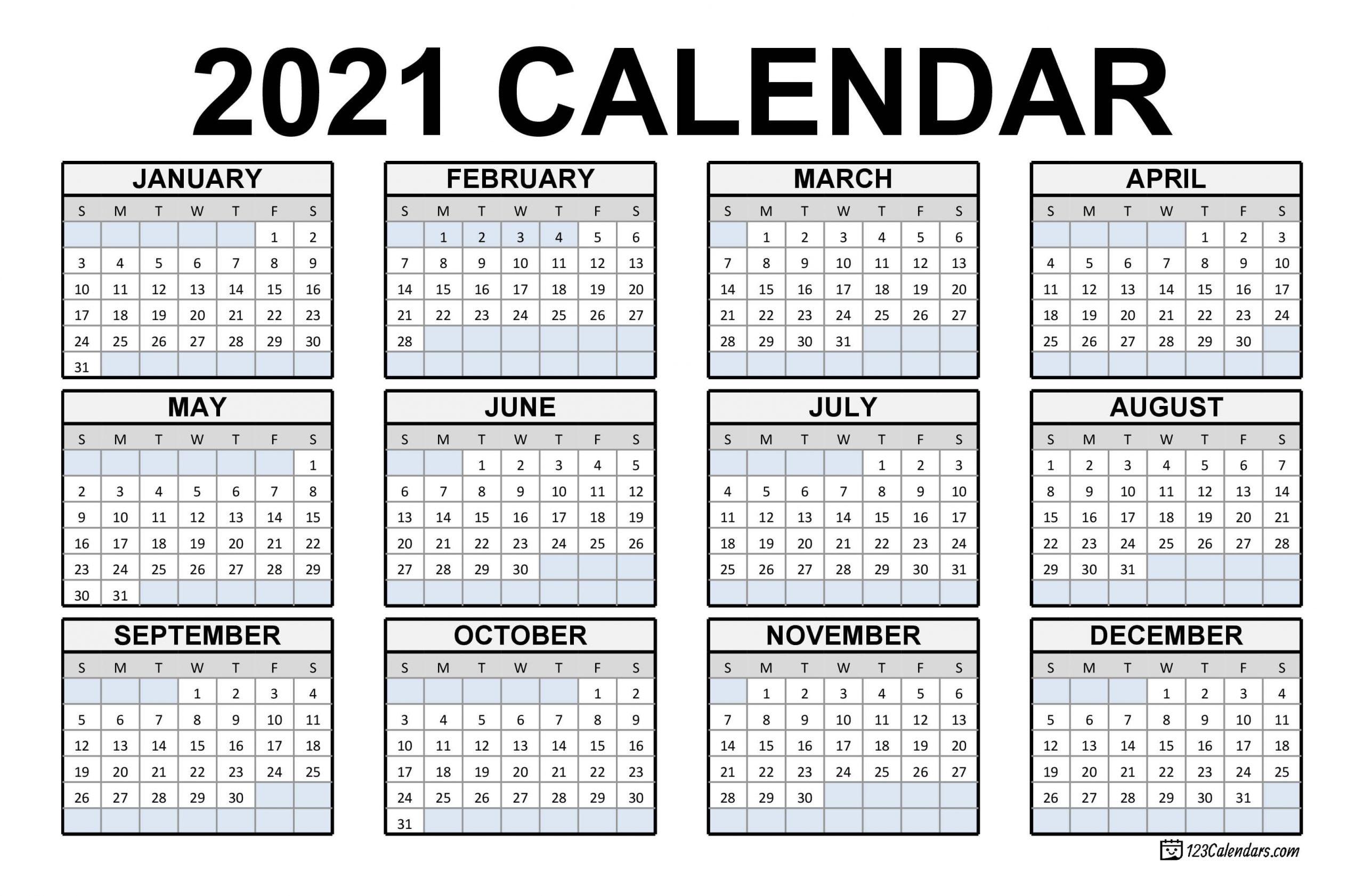 Calendar Of Weekends Only 2021 | Month Calendar Printable in Blank 2021 Calendar Printable Free
