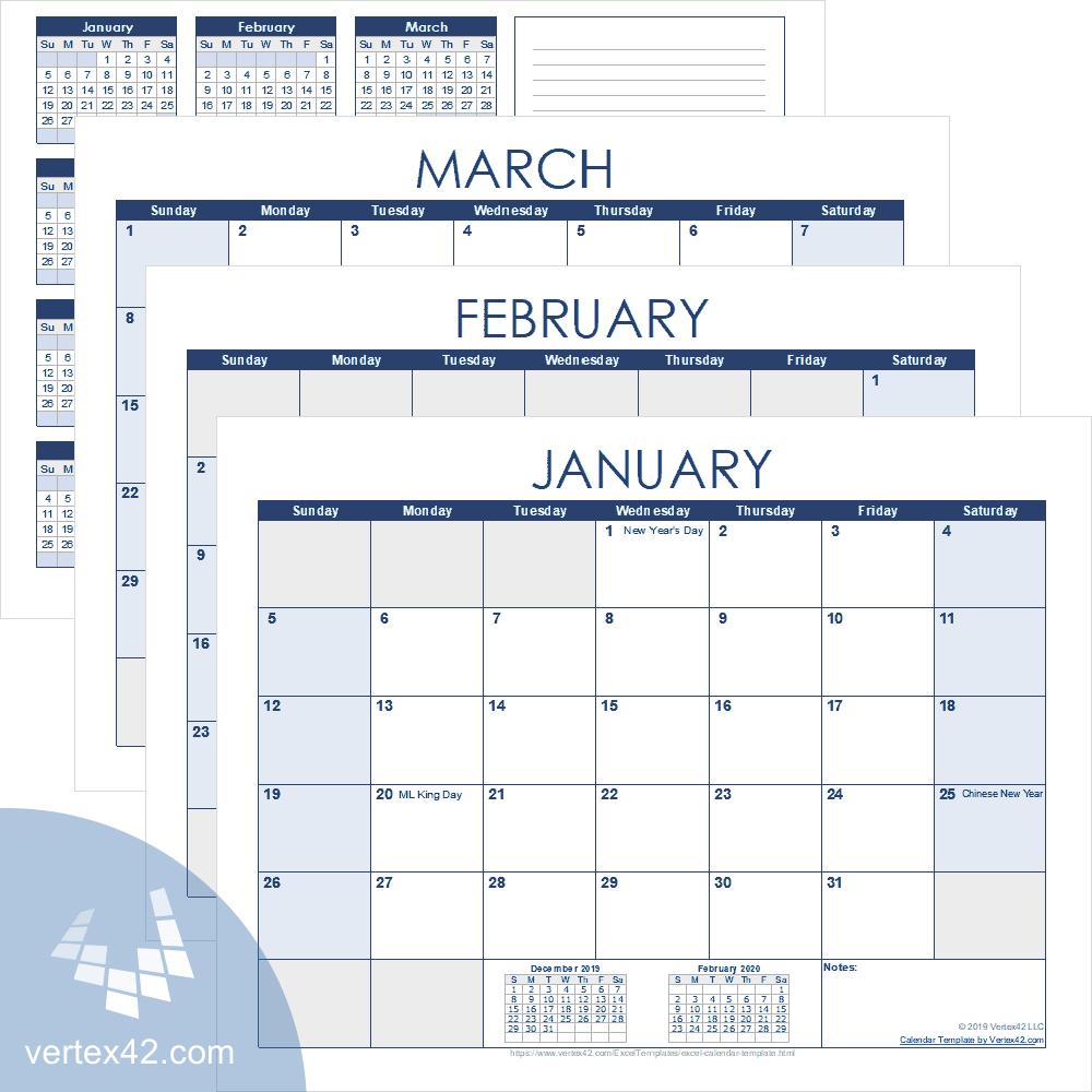 Calender Templatevertex | Example Calendar Printable throughout Vertex Yearly Calendar