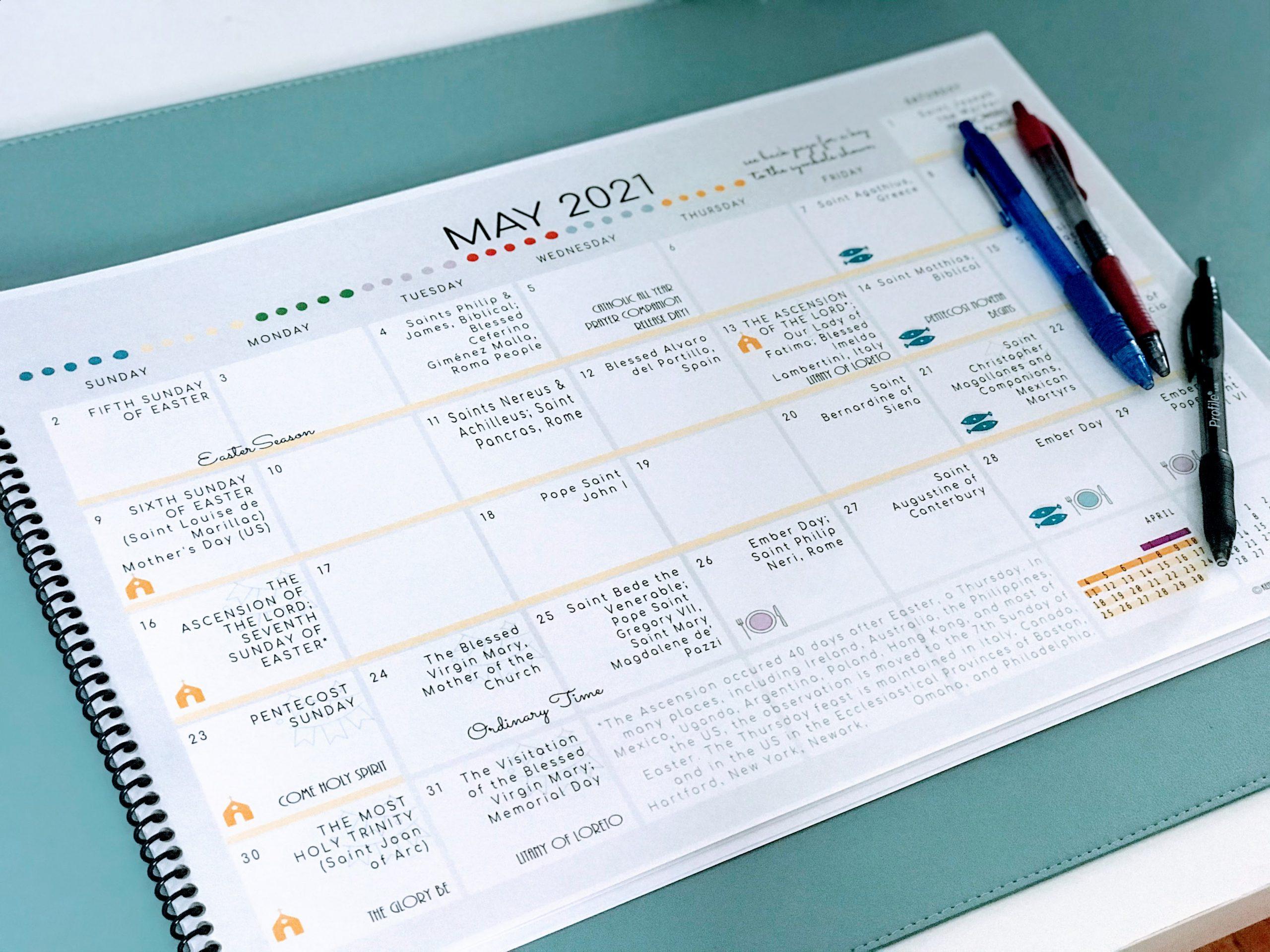Catholic All Year 2021 Liturgical Desk Calendar Large regarding All Year Calendar