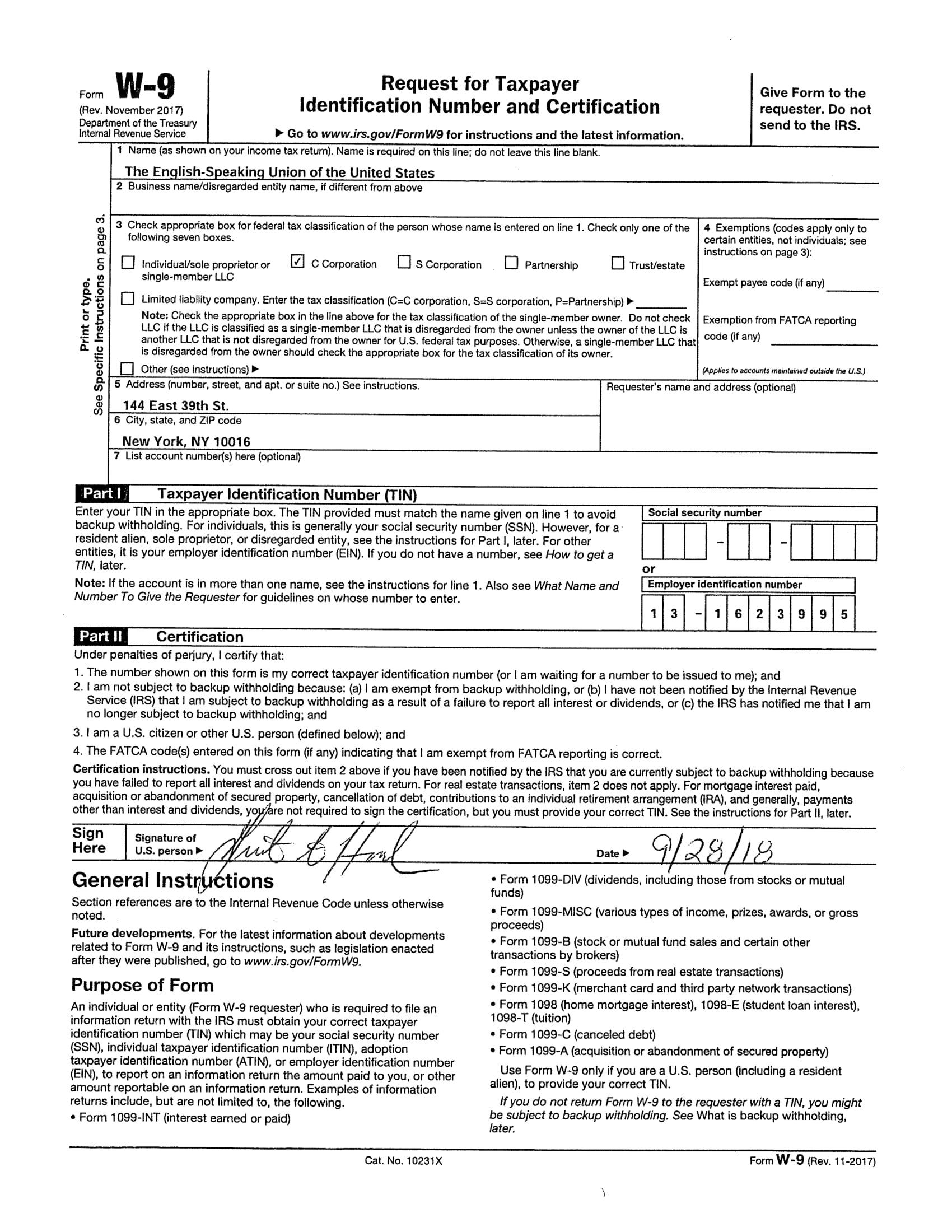 Collect 2020 W-9 Form | Calendar Printables Free Blank regarding W 9 Blank Form