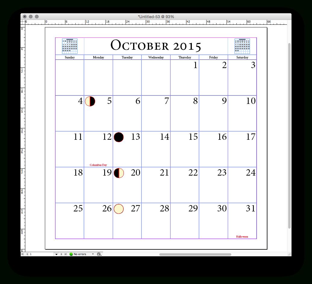 Crear Un Calendario Automáticamente En Indesign - Profeivan inside Calendar Wizard Indesign