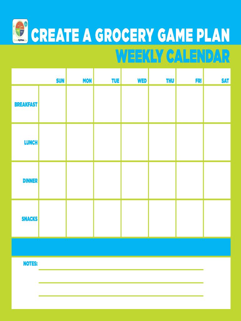 Create Food Calendar' - Fill Online, Printable, Fillable, Blank | Pdffiller intended for Calendar To Fill Online
