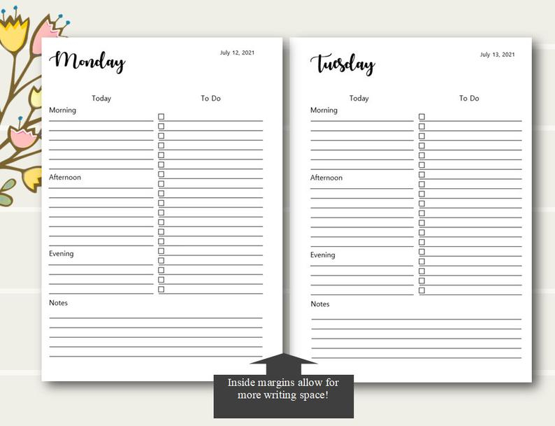 Daily Planner Printable 2021 2021 Daily Planner Daily | Etsy in 2021-2021 Planner: 2-Year Planner