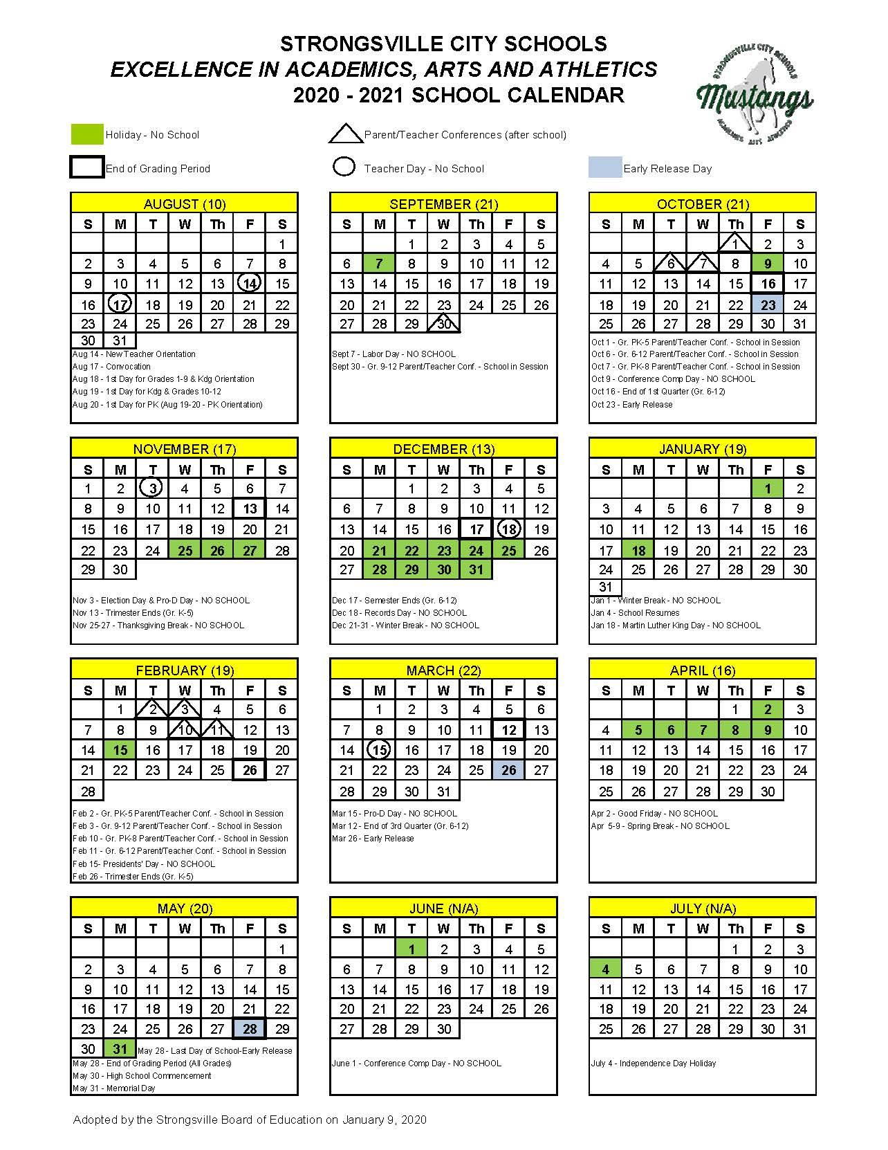 Dare County School Calendar 2021 | Printable Calendar 2020 inside Sfa 2021 Calendar