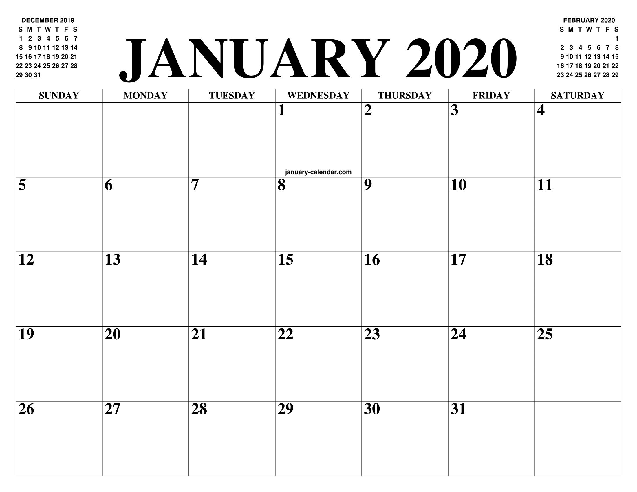 December 2020 Calender With Large Squares | Calendar in 2021 Calendar Printable Large Squares