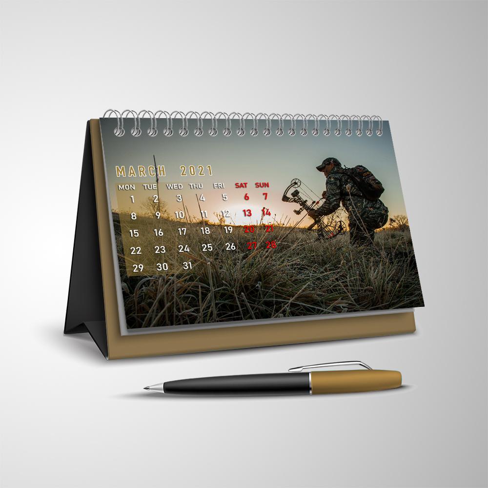 Deer Hunting 2021 V2 Desk Calendar I2D5 - Buzzcrafty intended for Deer Hunting Calendar