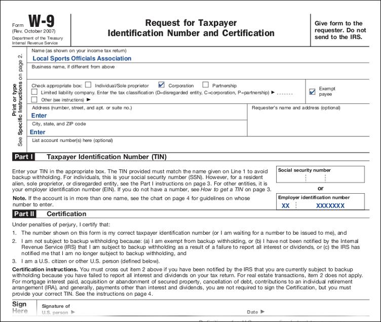 Downlodable Freeware: Download W9 Tax Form regarding Print Form W-9